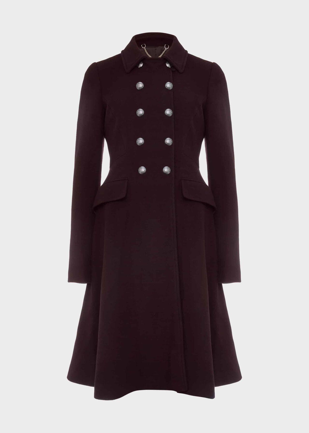 Francesca Wool Blend Coat Aubergine