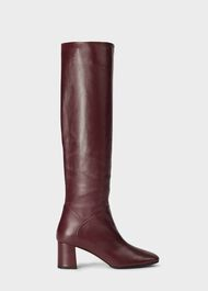 Imogen Knee Boot, Burgundy, hi-res