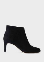 Lizzie Suede Stiletto Ankle Boots, Black, hi-res