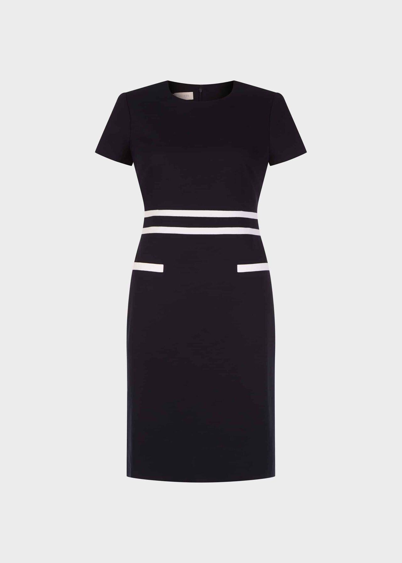 Primrose Colourblock Shift Dress Navy White
