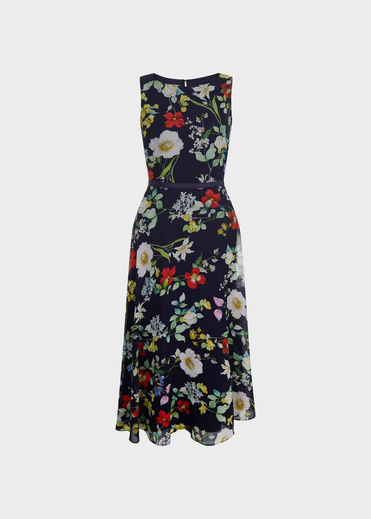 Petite Carly Floral Midi Dress Midnight Multi