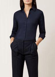 Victoria Shirt, Navy, hi-res