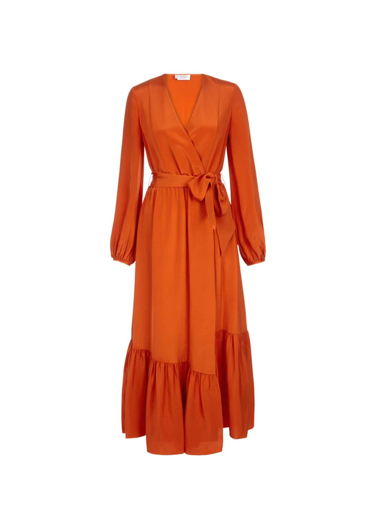 Valencia Silk Dress Orange