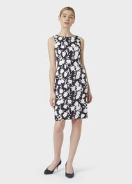 Moira Floral Shift Dress, Midnight Ivory, hi-res