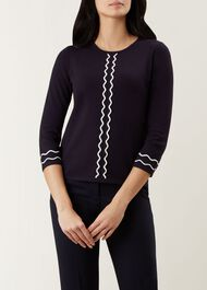 Danielle Sweater, Navy, hi-res