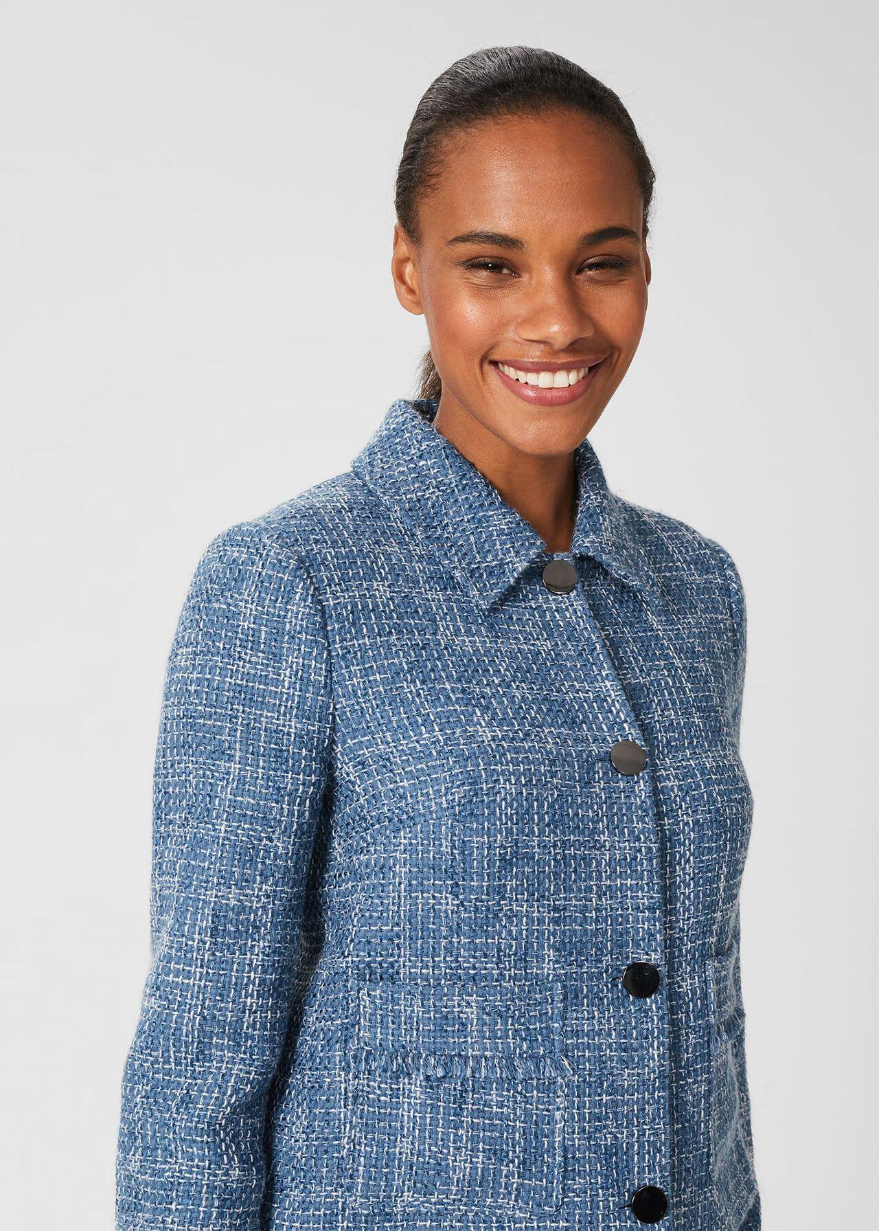 Ashlyn Tweed Jacket, Blue Multi, hi-res