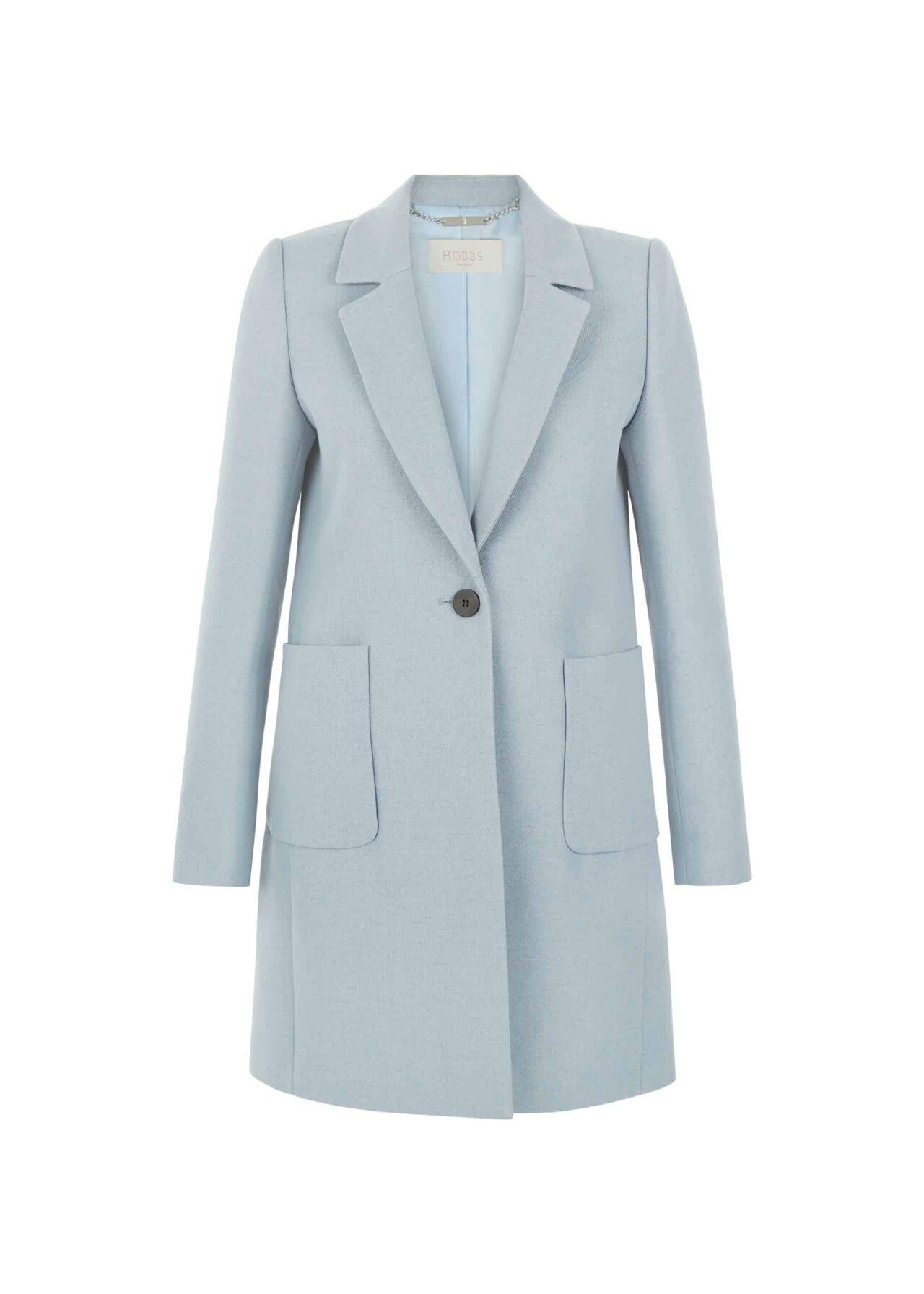 Camellia Coat Pale Blue
