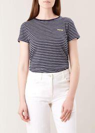 Emmaline Tee, Navy Ivory, hi-res