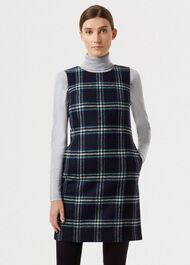 Robbie Wool Dress, Navy Multi, hi-res