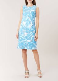 Allison Dress, Bright Aqua, hi-res
