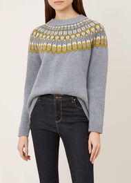 Madeline Sweater, Grey Multi, hi-res