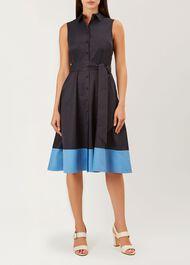 Millie Dress, Navy Sea Blue, hi-res