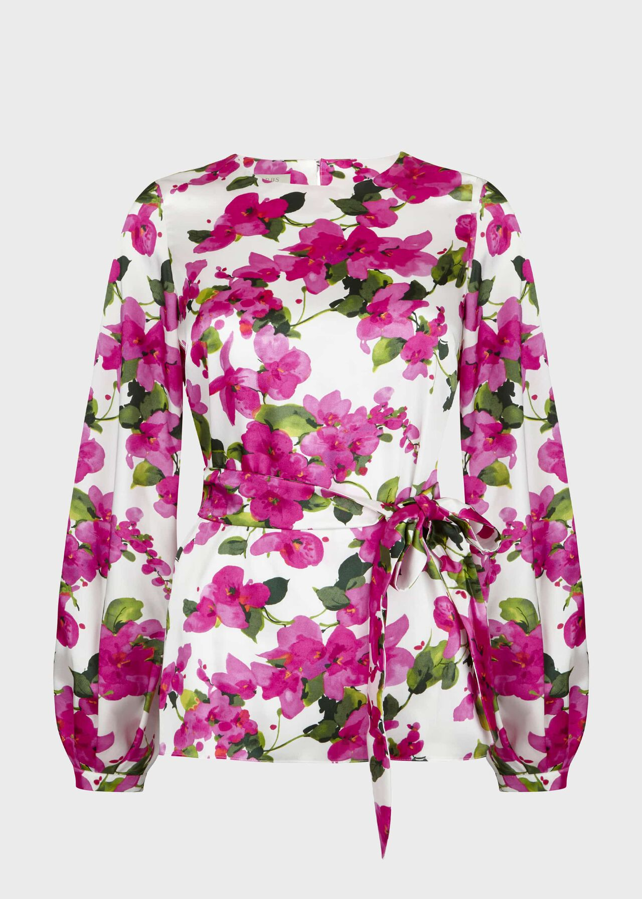 Rosie Floral Top Ivory Fuchsia