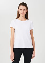 Pixie Cotton T-Shirt, White, hi-res