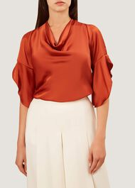 Eliza Blouse, Burnt Orange, hi-res
