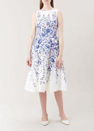 Evelyn Dress, Ivory Blue, hi-res
