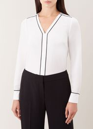 Beth Blouse, Ivory Black, hi-res