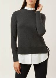 Mollie Sweater, Charcoal Marl, hi-res