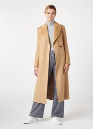 Olivia Wool Coat, Camel, hi-res