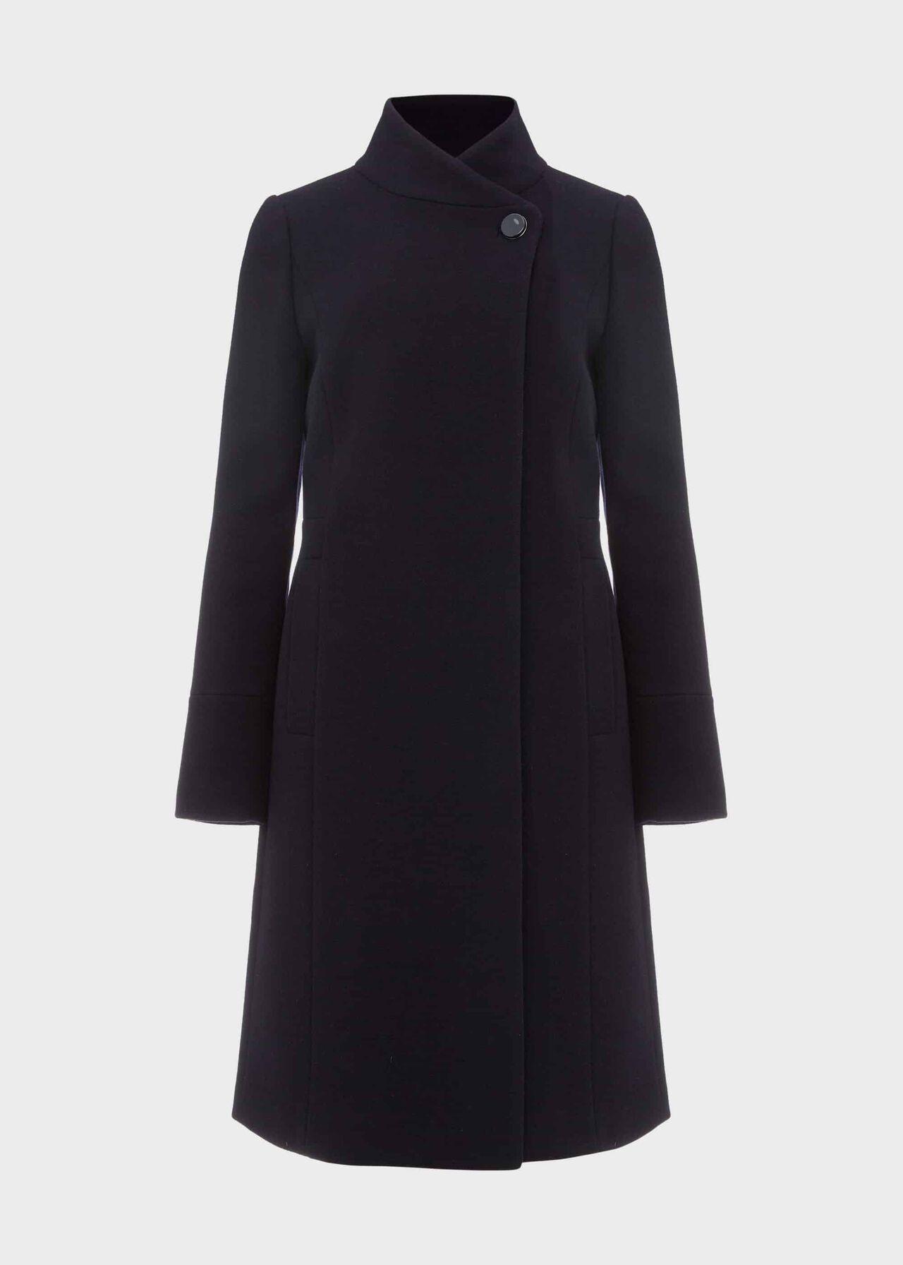 Petite Maisie Wool Blend Coat Navy