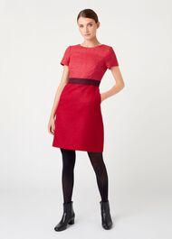 Theresa Wool Dress, Pink Multi, hi-res