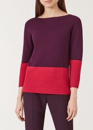 Cesci Sweater, Pink Burgundy, hi-res