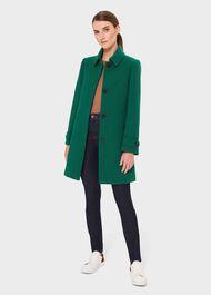 Juniper Coat With Wool , Pine Green, hi-res