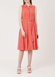Belinda Dress, Bonfire Red, hi-res