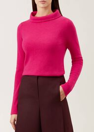 Audrey Wool Blend Sweater, Hot Pink, hi-res