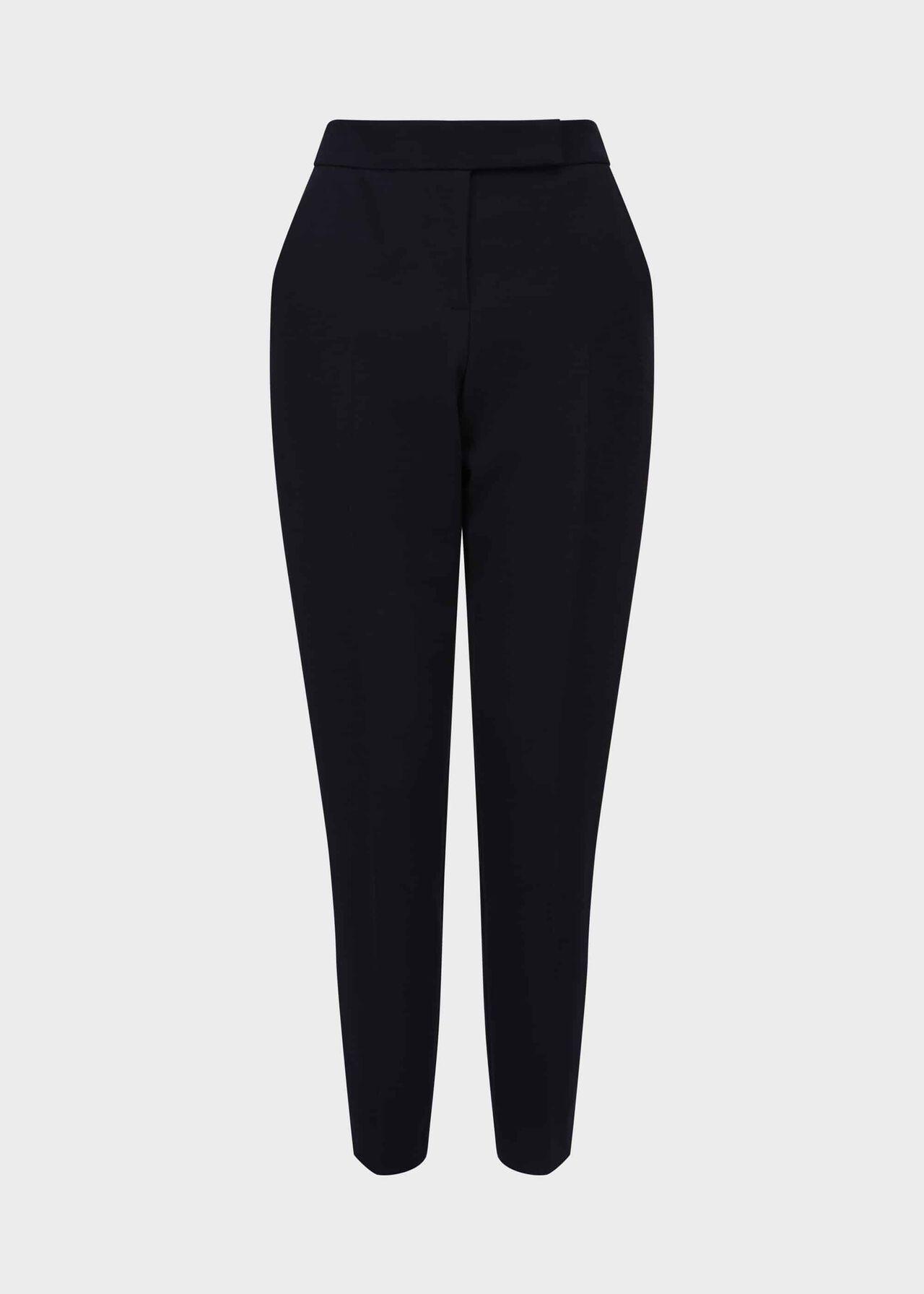 Petite Leila Slim trousers Navy