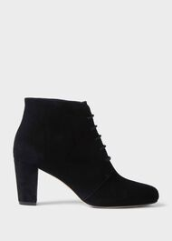 Patricia Suede Ankle Boots, Black, hi-res