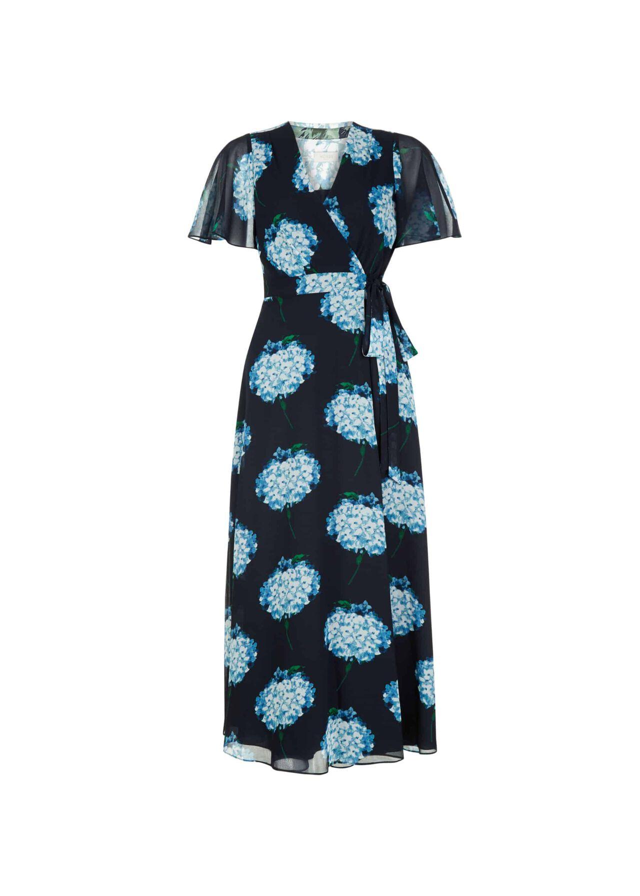 Hydrangea Wrap Dress Midnight Multi