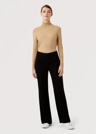 Petite Alva Wide trousers, Black, hi-res
