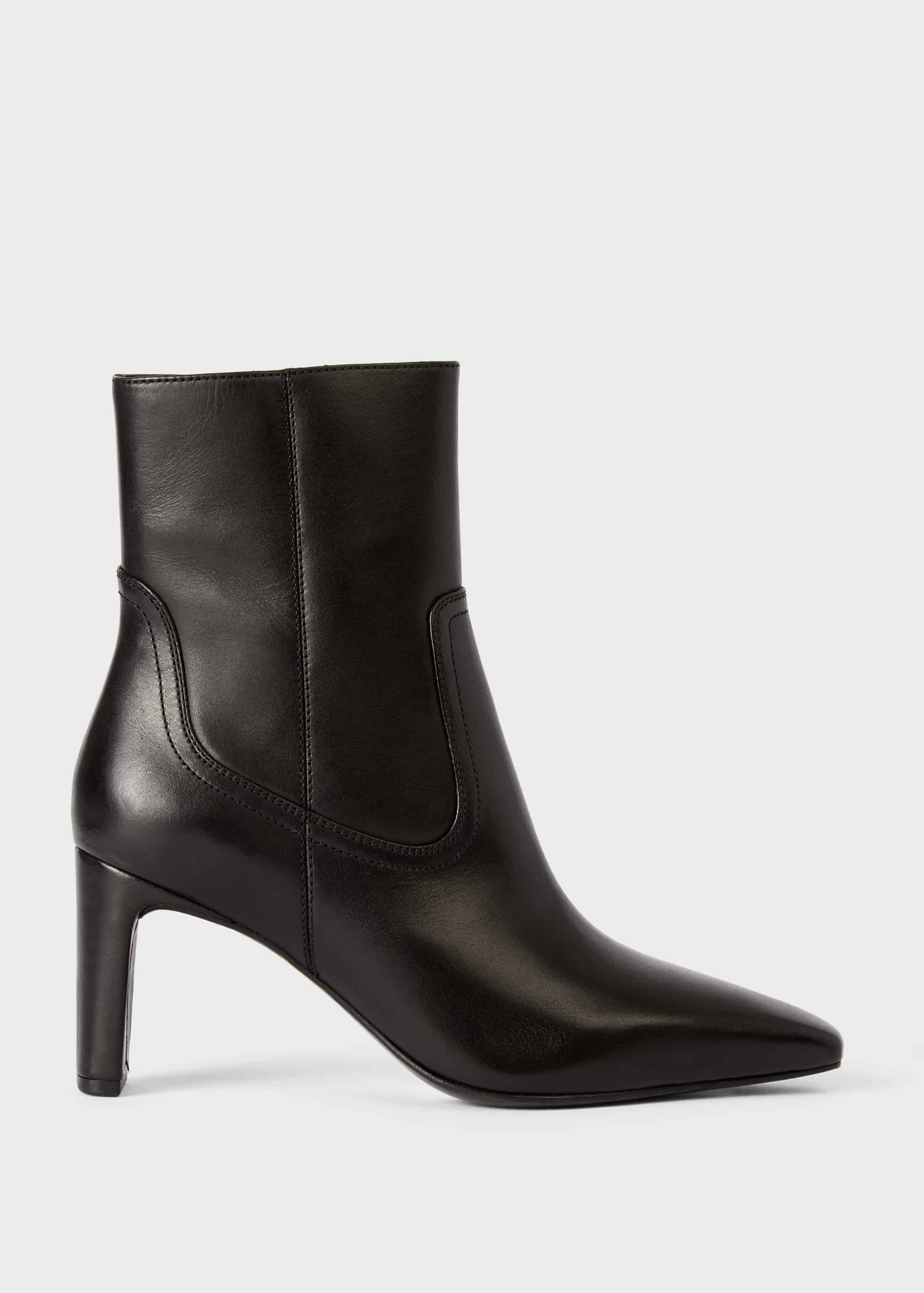 Fiona Leather Stiletto Ankle Boots | Hobbs