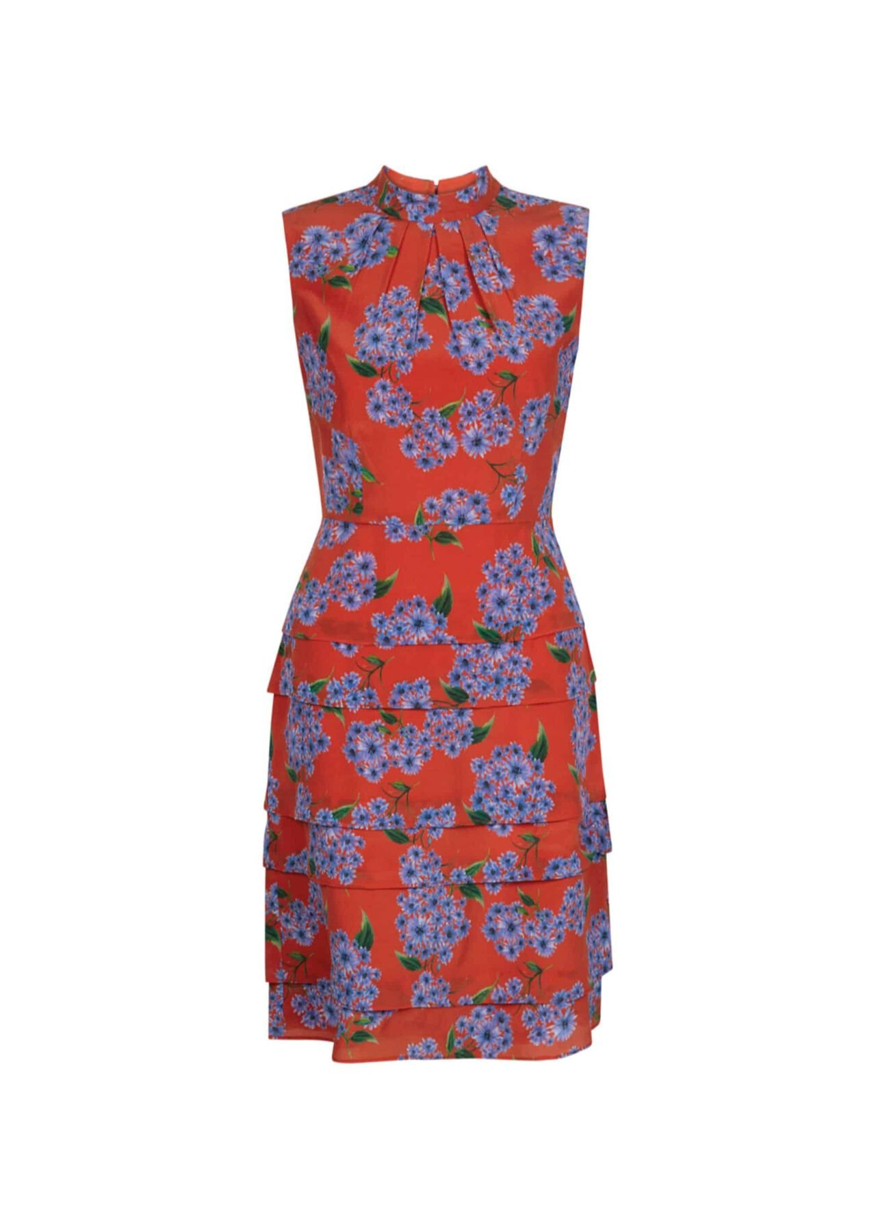 Polly Silk Dress Red Multi