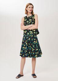 Melina Printed Skirt, Navy Multi, hi-res