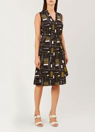 Cassandra Dress, Black Multi, hi-res