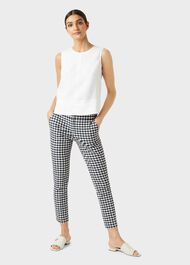 Annie Trouser With Stretch, Navy White, hi-res