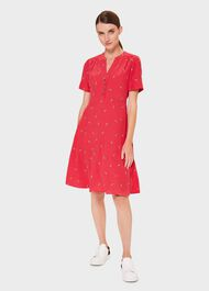 Jayde Floral Fit And Flare Dress, Red Multi, hi-res