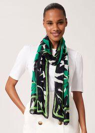 Brielle Printed Scarf, Green Multi, hi-res
