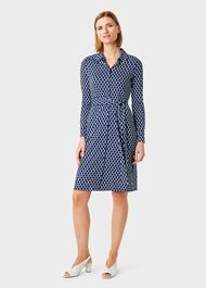Sandrine Dress, Navy Multi, hi-res