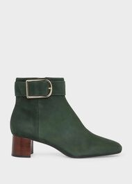 Suzannah Suede Ankle Boot, Deep Green, hi-res