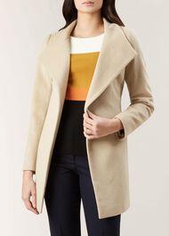 Marcella Wool Blend Coat, Blonde, hi-res