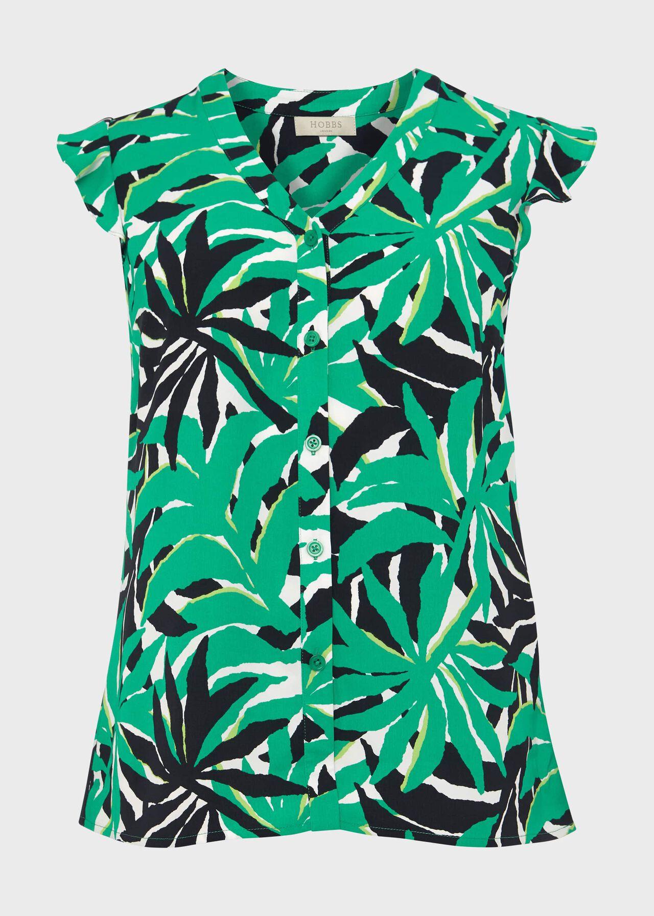 Laura Printed Blouse, Green Multi, hi-res