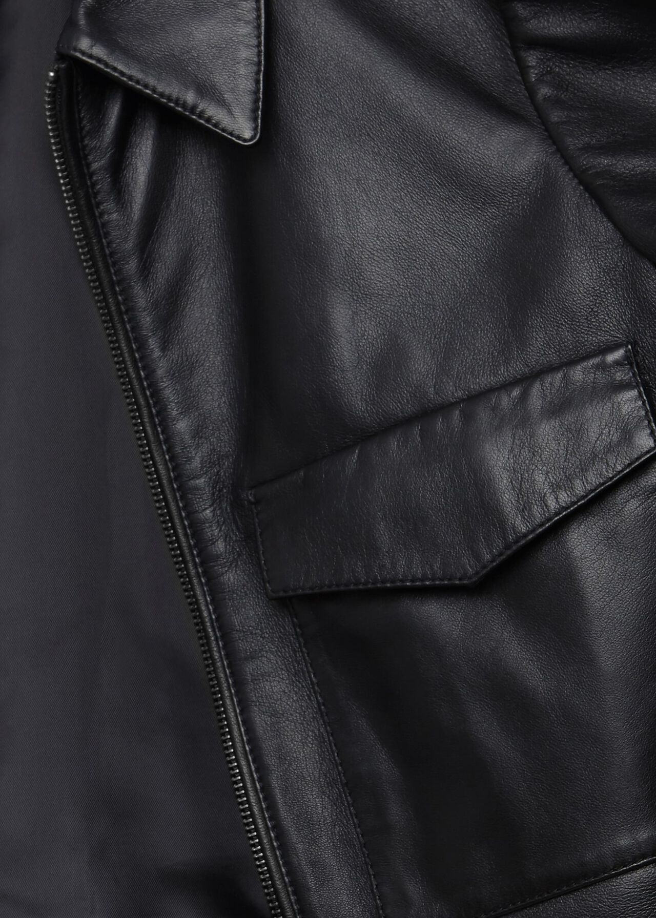 Elise Leather Jacket , Black, hi-res