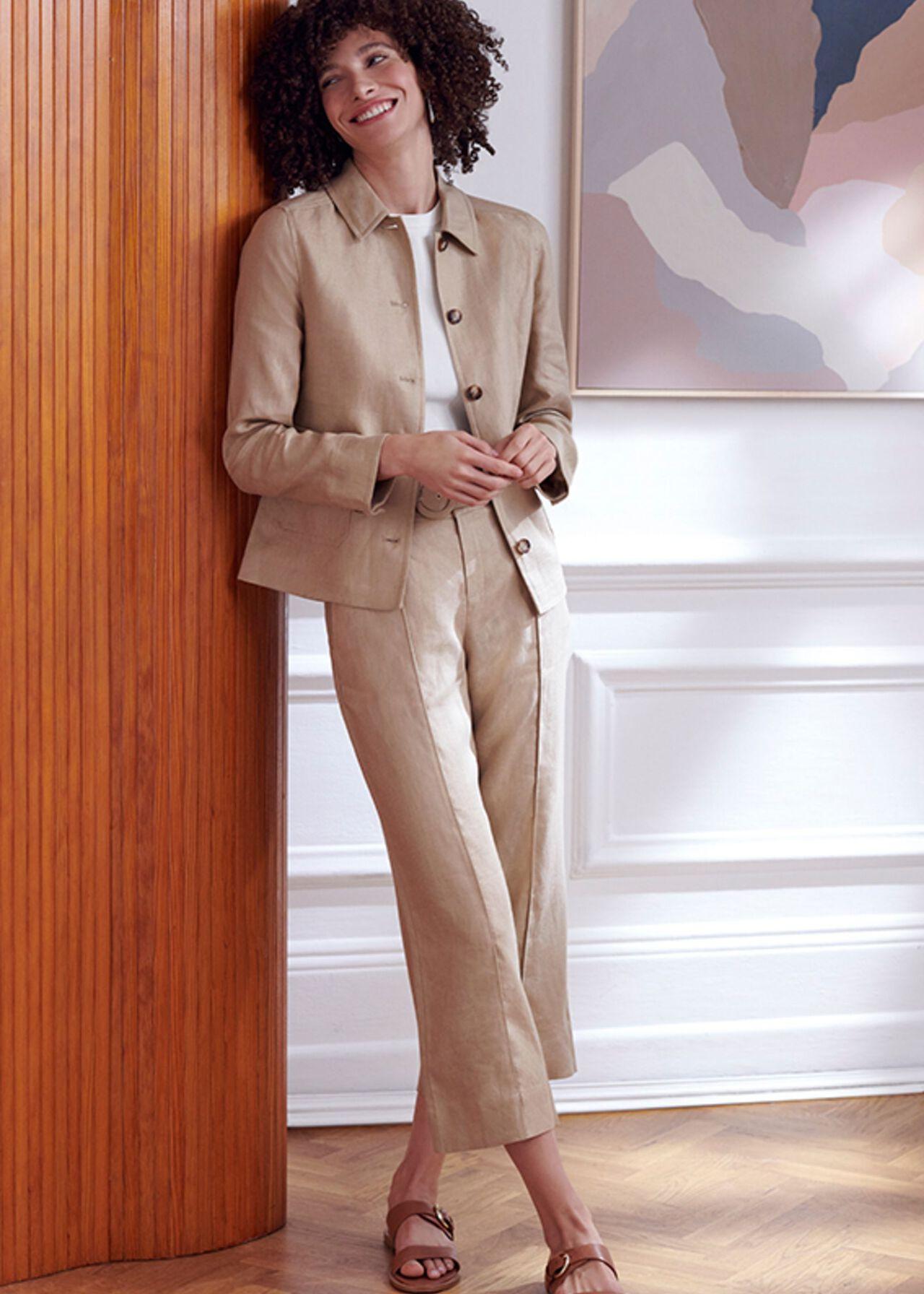 The Kiera Linen Suit, , hi-res