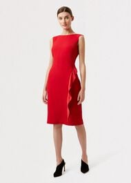 Elida Dress, Red, hi-res