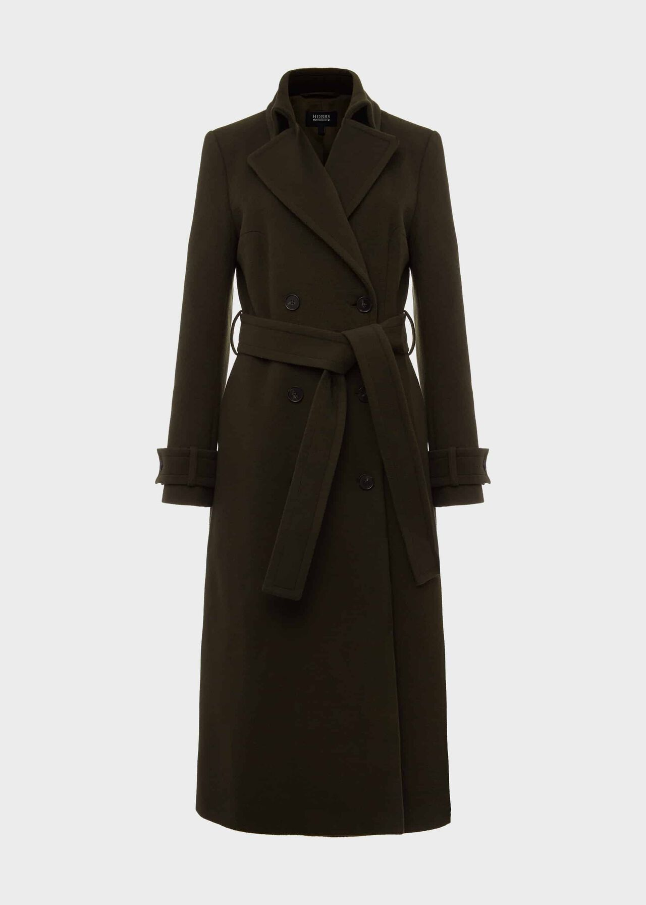 Lori Wool Cashmere Belted Coat Olive