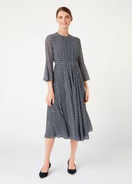 Lilia Dress, Navy Ivory, hi-res