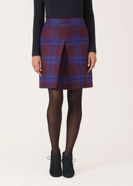 Jerrie Wool Skirt, Bordeaux Multi, hi-res